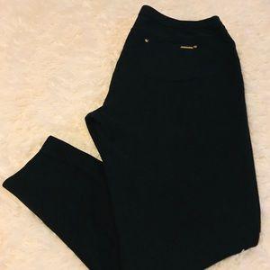 Michael Kors Black Stretch Twill Knit Leggings